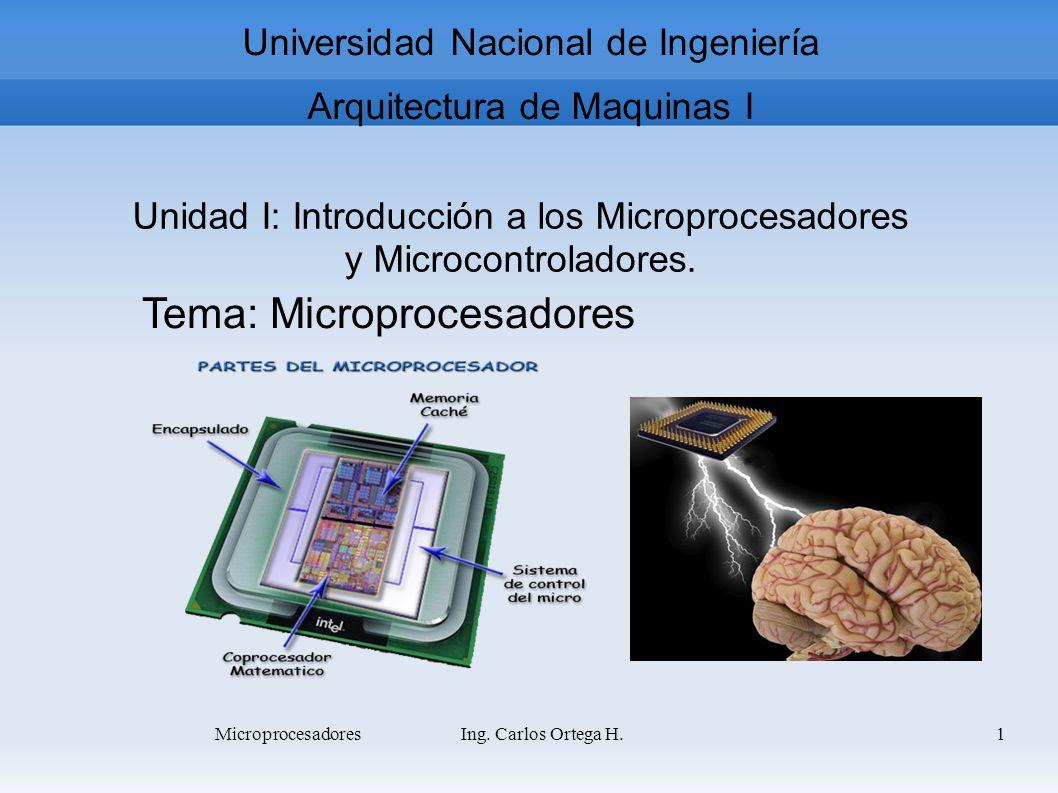 Arq.de Computadora I Ing. Carlos Ortega H.