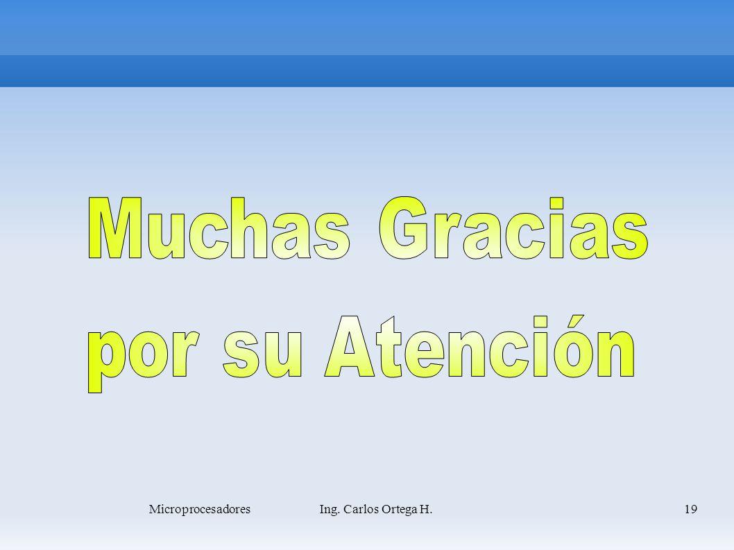 19Microprocesadores Ing. Carlos Ortega H.