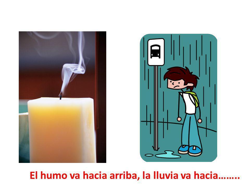 El humo va hacia arriba, la lluvia va hacia……..