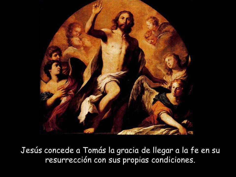 Tomás no está presente cuando se aparece a los demás discípulos y no está dispuesto a aceptar su testimonio.