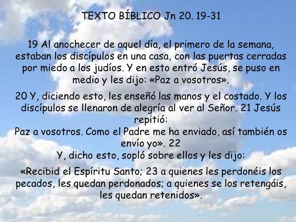 TEXTO BÍBLICO Jn 20.