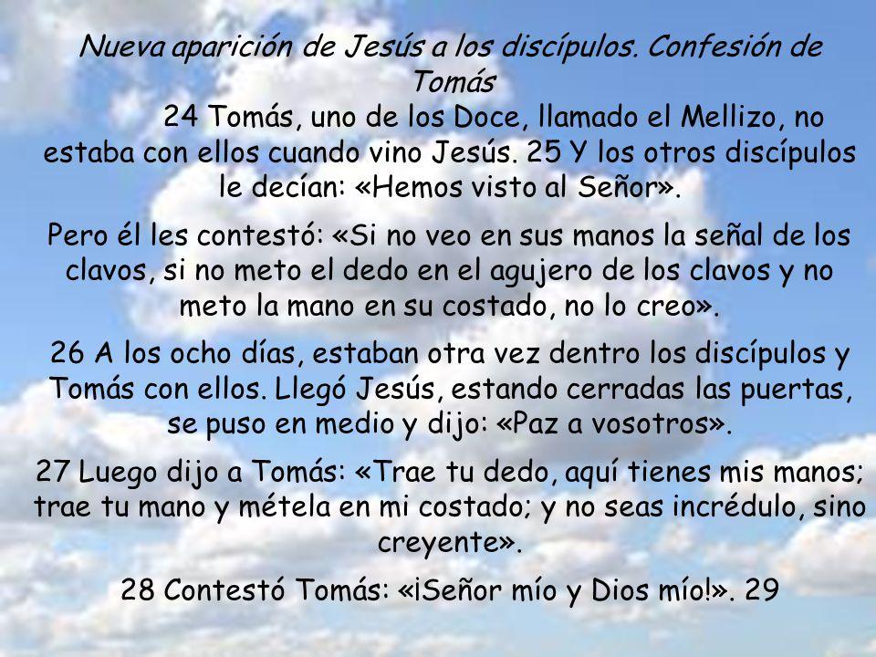 TEXTO BÍBLICO Jn 20. 19-31 19 Al anochecer de aquel día, el primero de la semana, estaban los discípulos en una casa, con las puertas cerradas por mie