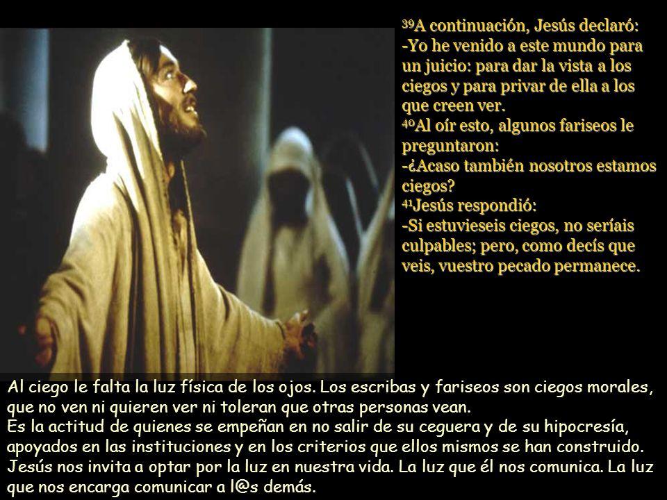 www.vitanoblepowerpoints.net 35 Jesús se enteró de que lo habían echado fuera, y cuando se encontró con él, le preguntó: -¿Crees en el Hijo del hombre