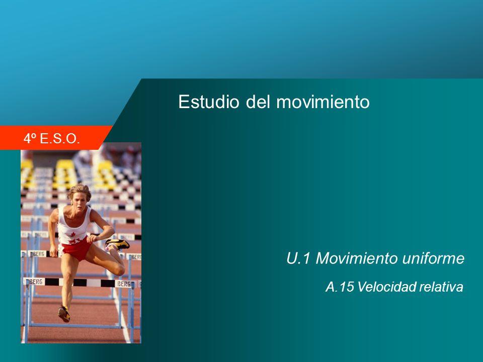 4º E.S.O. Estudio del movimiento U.1 Movimiento uniforme A.15 Velocidad relativa