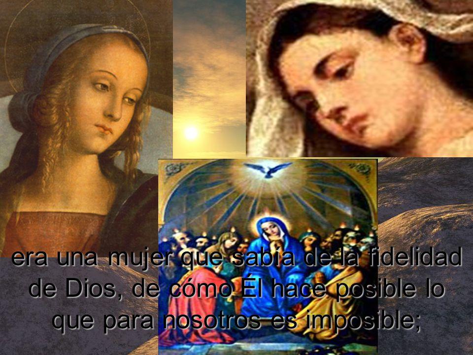 La Madre de Jesús –y de los discípulos que engendró al pie de la Cruz del Señor–,
