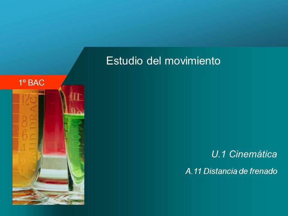 1º BAC Estudio del movimiento U.1 Cinemática A.11 Distancia de frenado