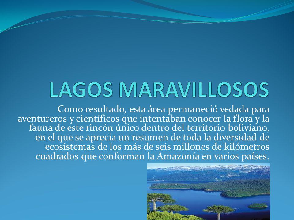Como resultado, esta área permaneció vedada para aventureros y científicos que intentaban conocer la flora y la fauna de este rincón único dentro del territorio boliviano, en el que se aprecia un resumen de toda la diversidad de ecosistemas de los más de seis millones de kilómetros cuadrados que conforman la Amazonía en varios países.