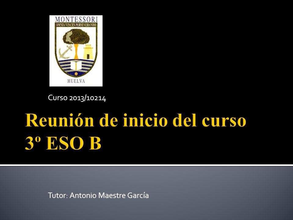 1.Presentación de profesores y asignaturas. Itinerarios de 4º ESO.
