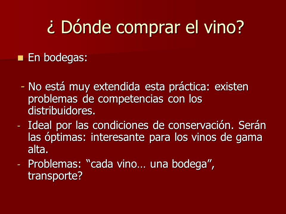 ¿ Dónde comprar el vino.¿ Dónde comprar el vino.