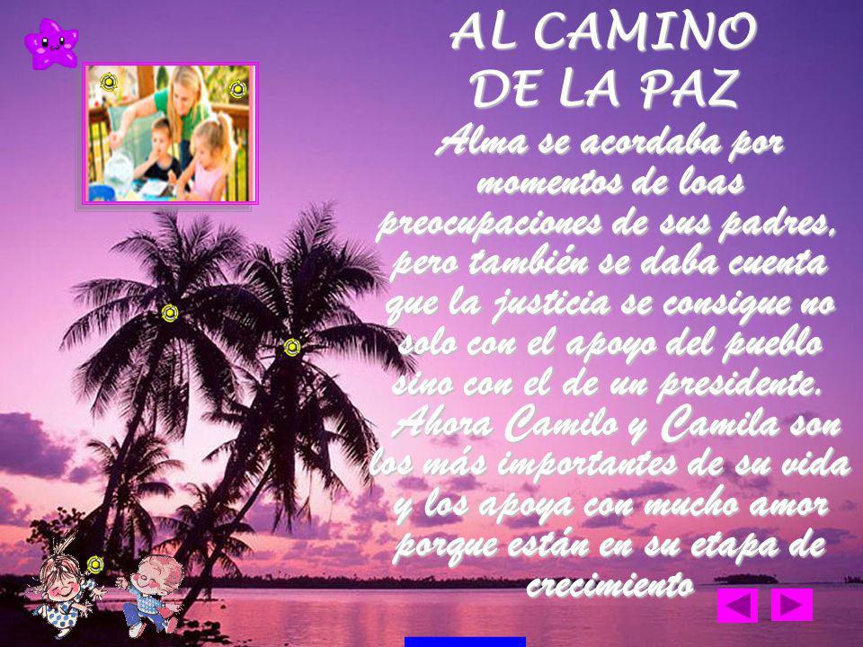 Después de un tiempo se casó con Daniel, un destacado ingeniero civil con el cual tuvo dos hermosos gemelos llamados Camilo y Camila AL CAMINO DE LA PAZ