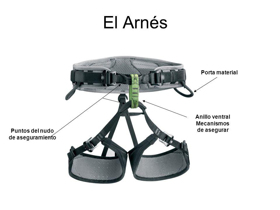 El Arnés Porta material Anillo ventral Mecanismos de asegurar Puntos del nudo de aseguramiento