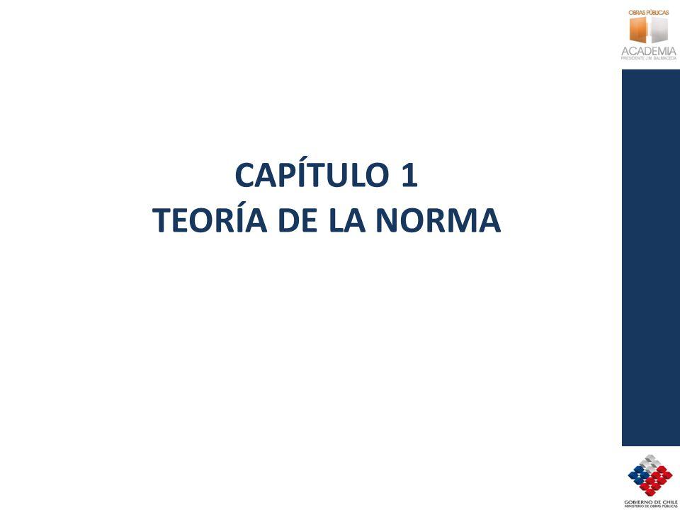 CAPÍTULO 1 TEORÍA DE LA NORMA