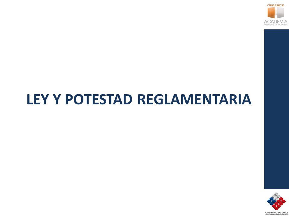 LEY Y POTESTAD REGLAMENTARIA
