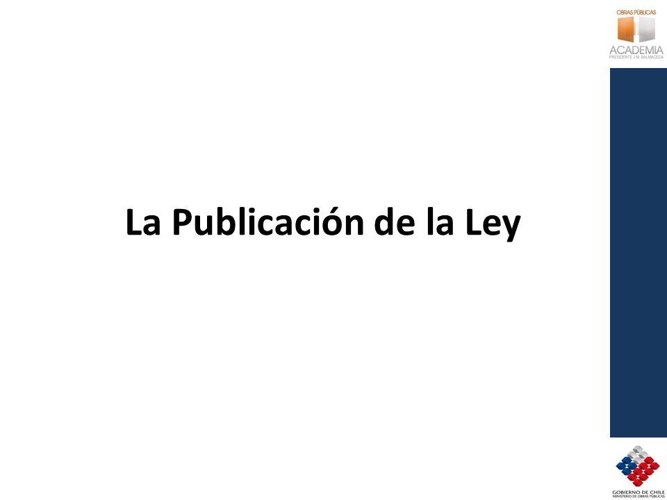 La Publicación de la Ley