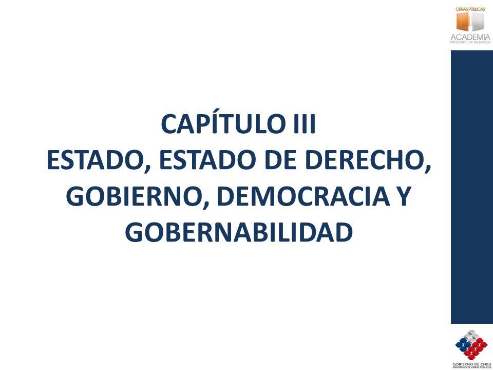 CAPÍTULO III ESTADO, ESTADO DE DERECHO, GOBIERNO, DEMOCRACIA Y GOBERNABILIDAD