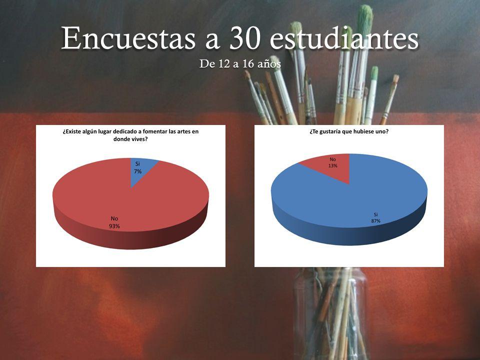 Encuestas a 30 estudiantes De 12 a 16 años