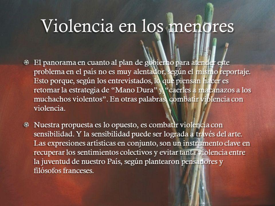 Estadísticas Según este portal para el 2008 las faltas violentas cometidas por menores de edad alcanzaron los 5,336, cifra alarmante.