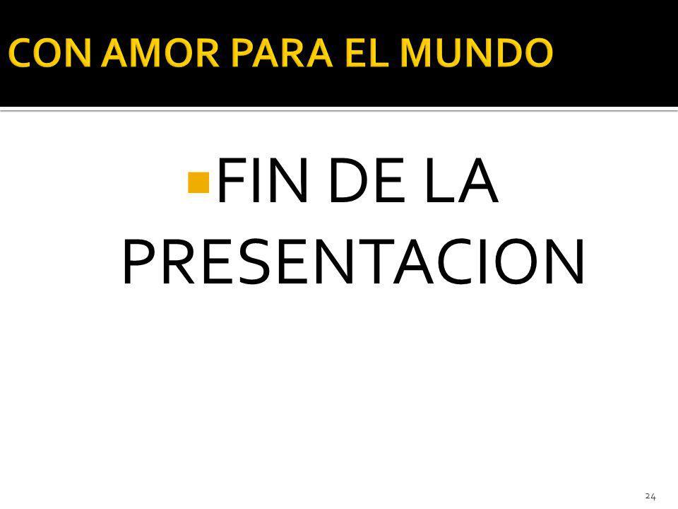 FIN DE LA PRESENTACION 24