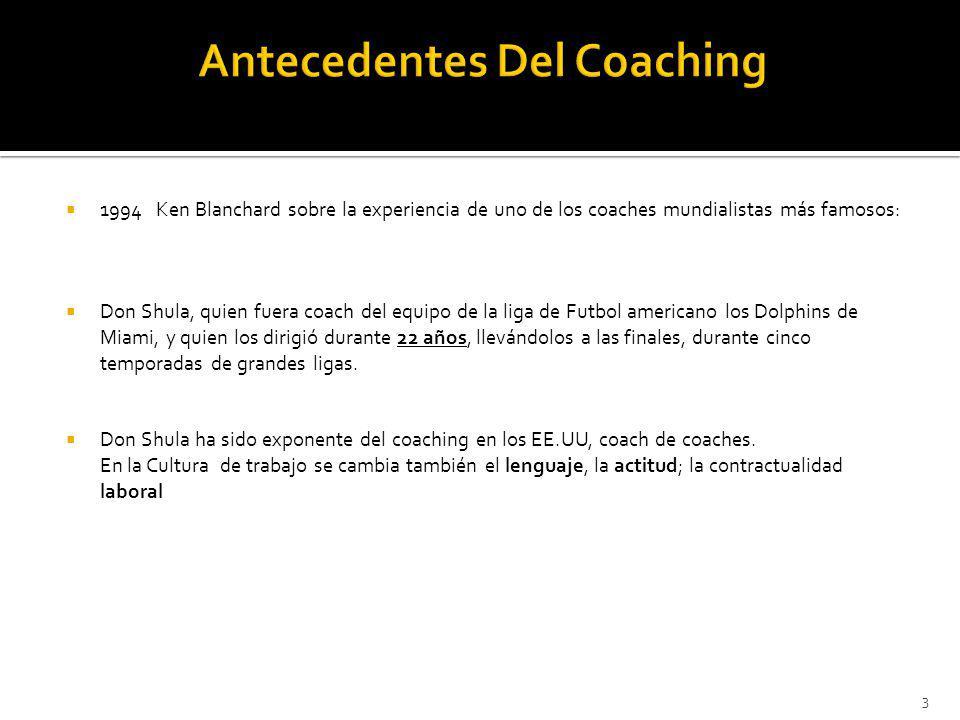 1994 Ken Blanchard sobre la experiencia de uno de los coaches mundialistas más famosos: Don Shula, quien fuera coach del equipo de la liga de Futbol a