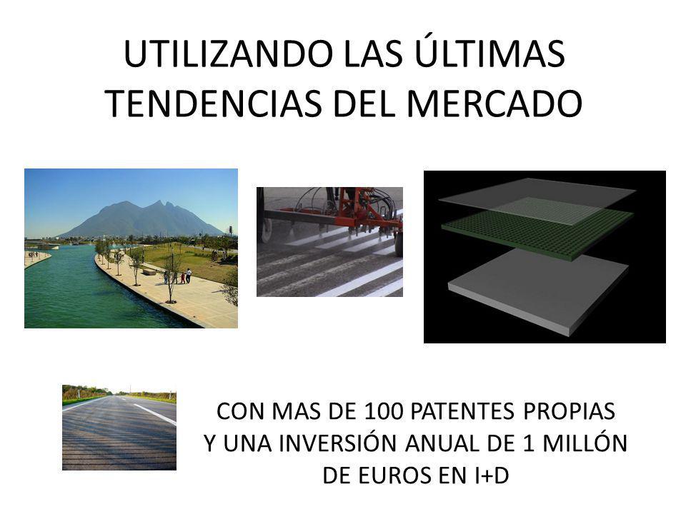 UTILIZANDO LAS ÚLTIMAS TENDENCIAS DEL MERCADO CON MAS DE 100 PATENTES PROPIAS Y UNA INVERSIÓN ANUAL DE 1 MILLÓN DE EUROS EN I+D
