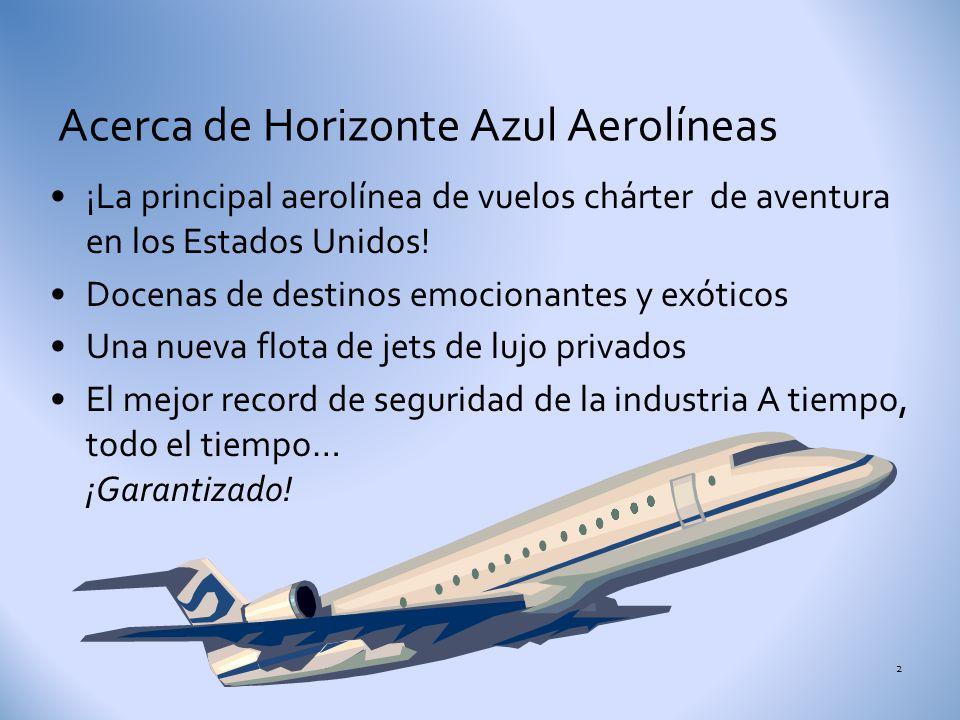 ¡A volar! Horizonte Azul Aerolíneas