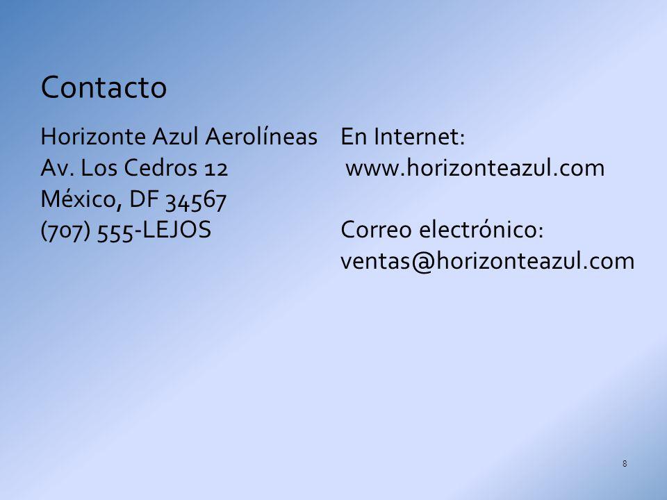 Horizonte Azul Aerolíneas Av.