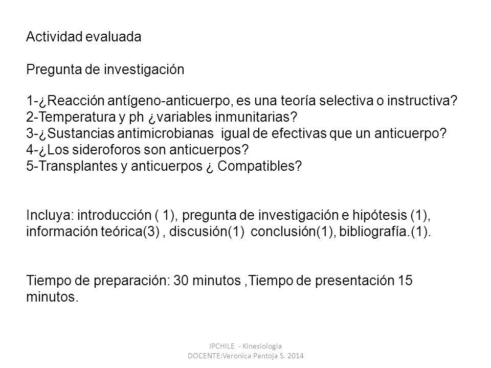 IPCHILE - Kinesiologia DOCENTE:Veronica Pantoja S.