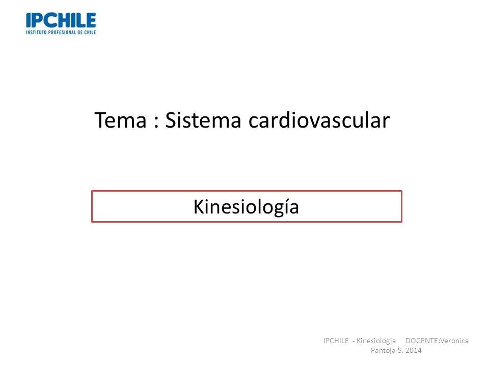 Tema : Sistema cardiovascular Professor: Verónica Pantoja.