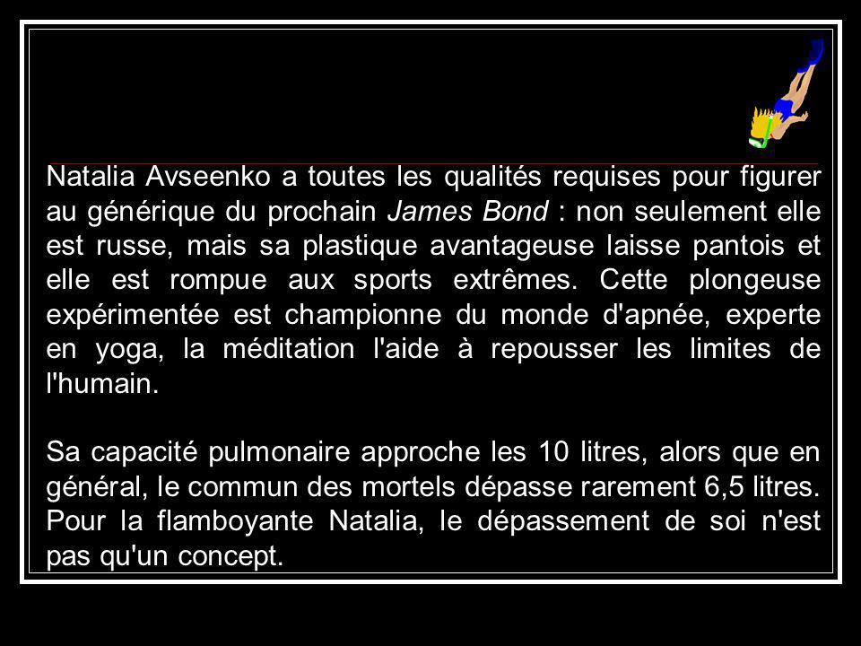 Natalia Avseenko tiene todas las cualidades para estar presente en los créditos del próximo James Bond: no sólo es rusa, además su plástico ventajoso