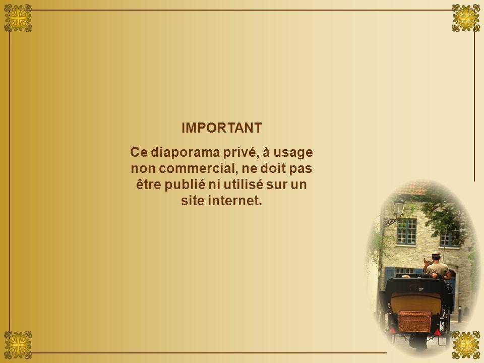 IMPORTANT Ce diaporama privé, à usage non commercial, ne doit pas être publié ni utilisé sur un site internet.