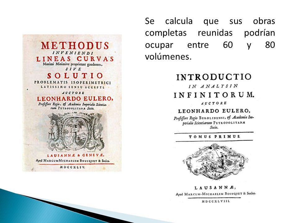 Se calcula que sus obras completas reunidas podrían ocupar entre 60 y 80 volúmenes.