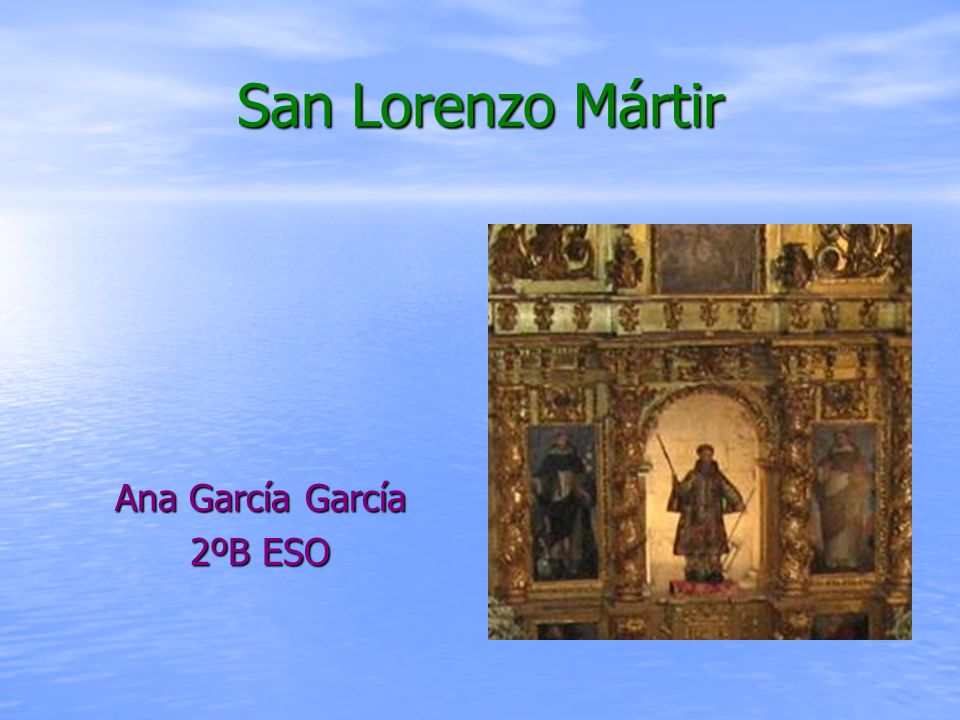 Biografía Biografía San Lorenzo nació en Huesca (España) en el siglo III.