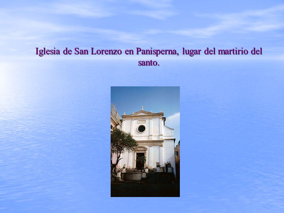 Iglesia de San Lorenzo en Panisperna, lugar del martirio del santo.