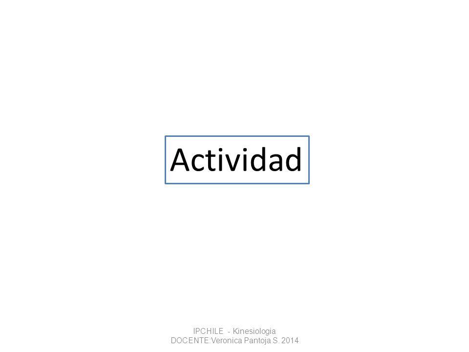 Actividad IPCHILE - Kinesiologia DOCENTE:Veronica Pantoja S. 2014