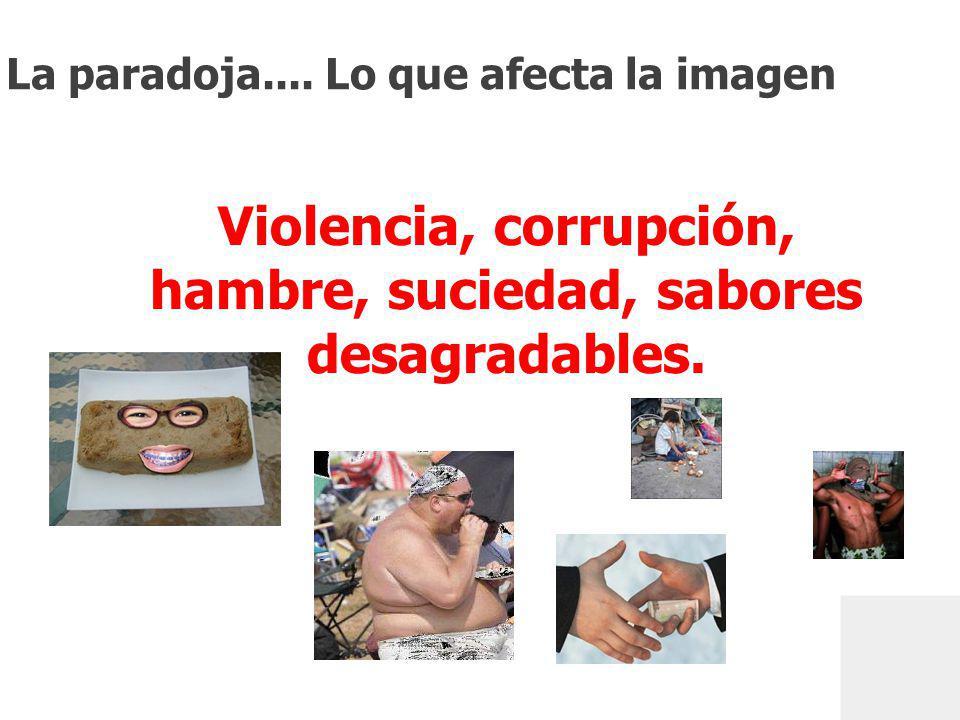 GfK ColombiaLa percepción de un país en un mundo de paradojaJulio 2010 Source: Internet research Violencia, corrupción, hambre, suciedad, sabores desagradables.