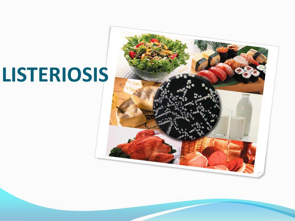 Listeria monocytogenes Agente poco común transmitido por alimentos.