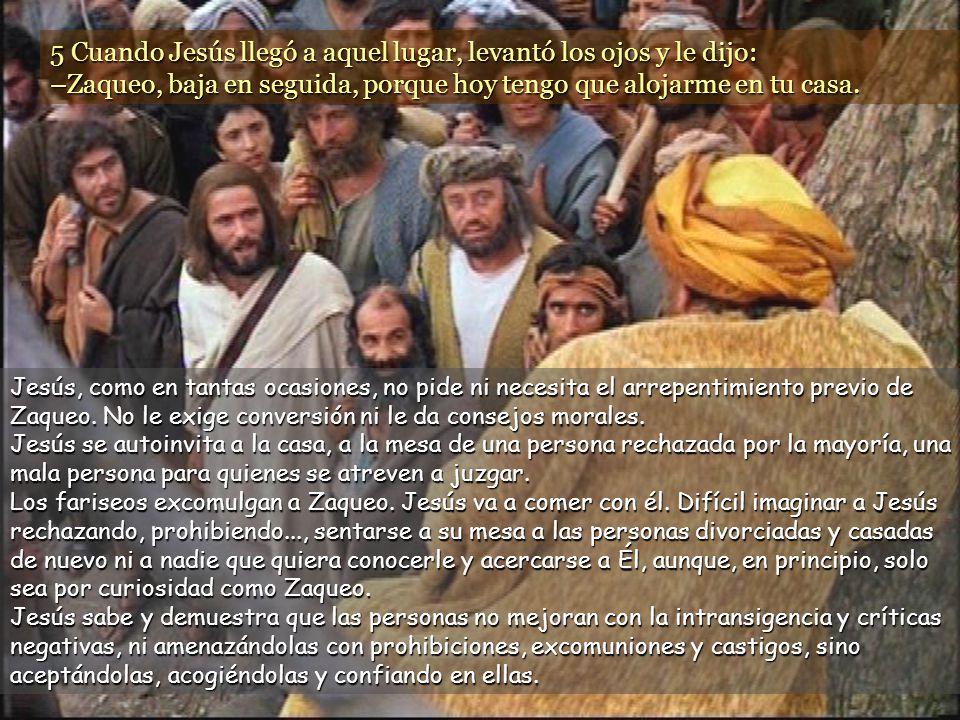 www.vitanoblepowerpoints.net 5 Cuando Jesús llegó a aquel lugar, levantó los ojos y le dijo: –Zaqueo, baja en seguida, porque hoy tengo que alojarme en tu casa.