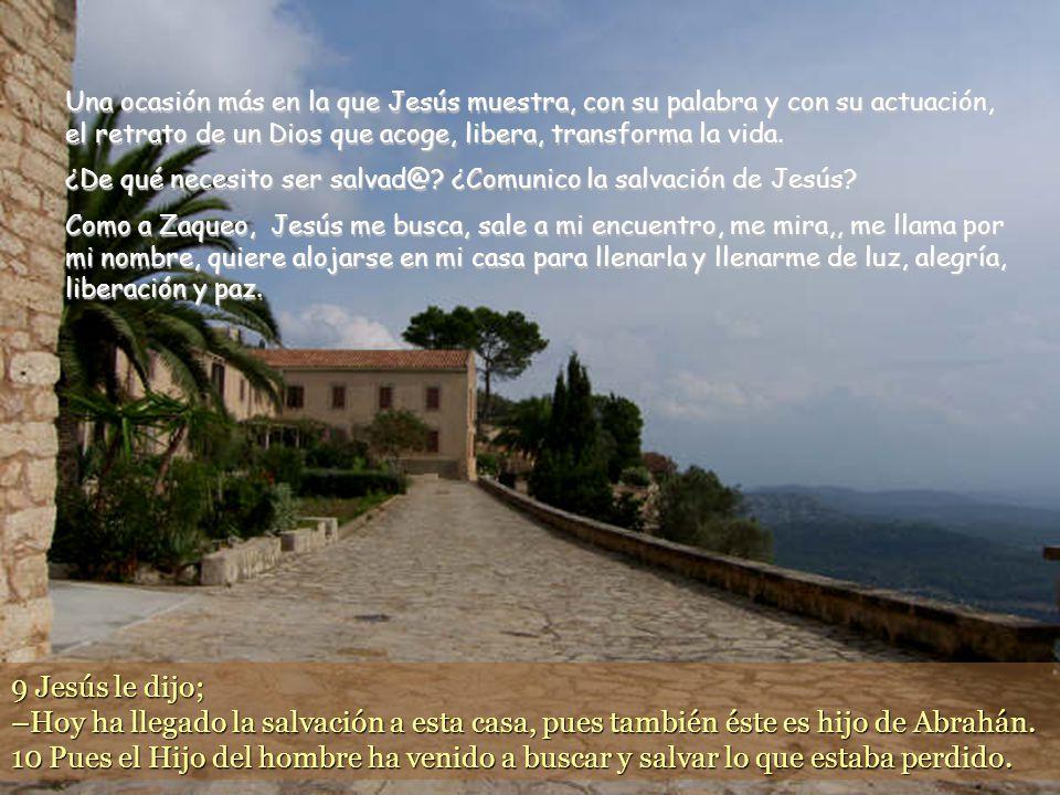 www.vitanoblepowerpoints.net 8 Pero Zaqueo se puso en pie ante el Señor y le dijo: –Señor, la mitad de mis bienes se la doy a los pobres, y si engañé