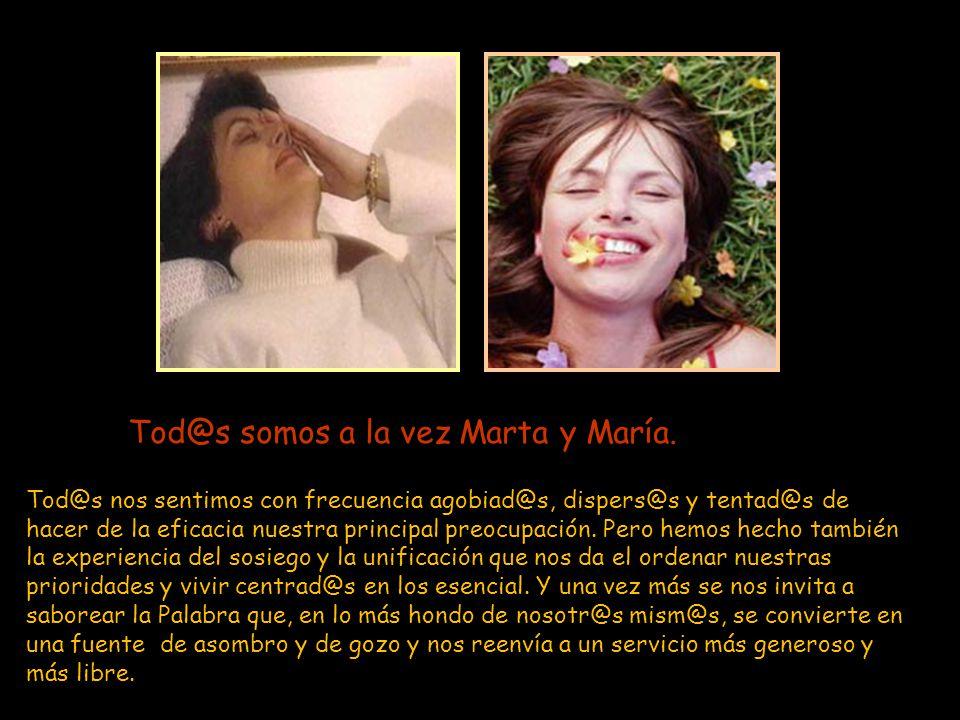 Pero el Señor le contestó: –Marta, Marta, andas inquieta y preocupada por muchas cosas, cuando en realidad una sola es necesaria. María ha escogido la