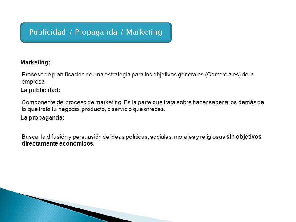 Proceso de planificación de una estrategia para los objetivos generales (Comerciales) de la empresa Componente del proceso de marketing. Es la parte q