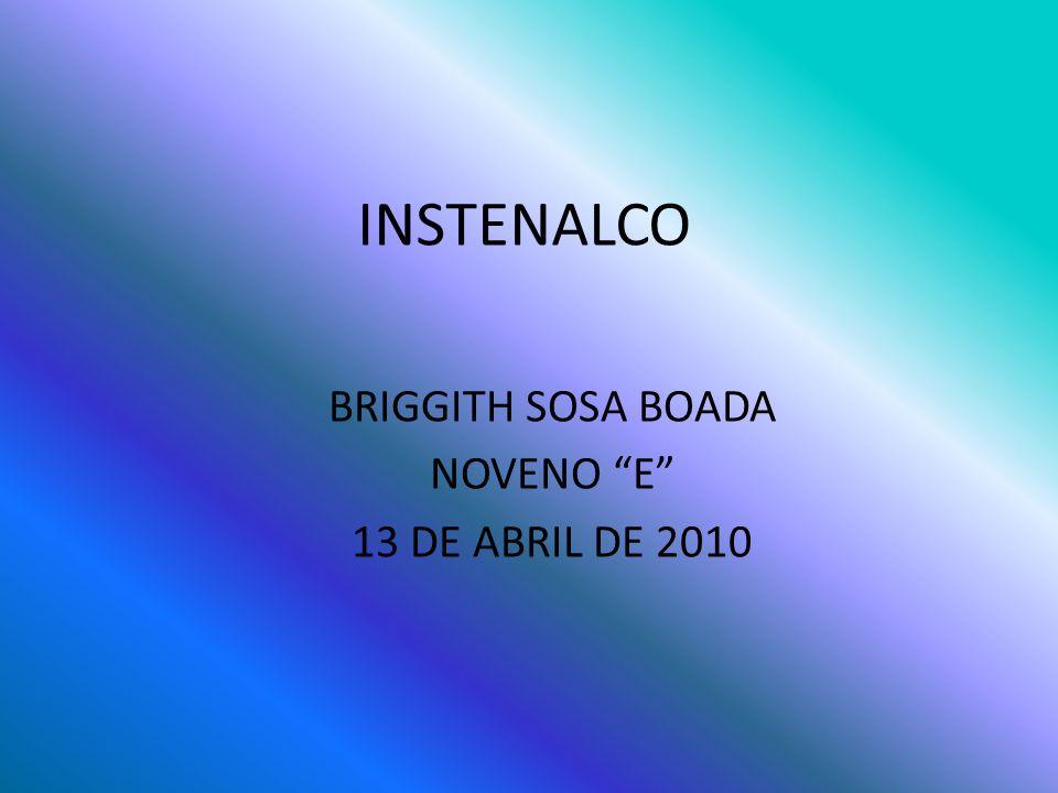 INSTENALCO BRIGGITH SOSA BOADA NOVENO E 13 DE ABRIL DE 2010