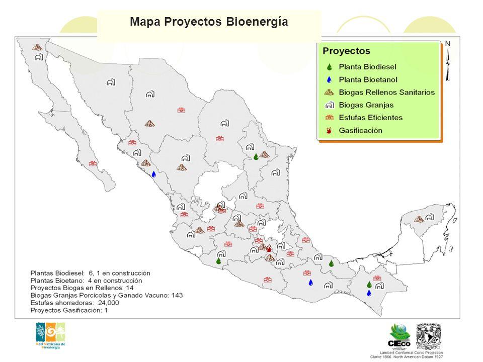 Mapa Proyectos Bioenergía