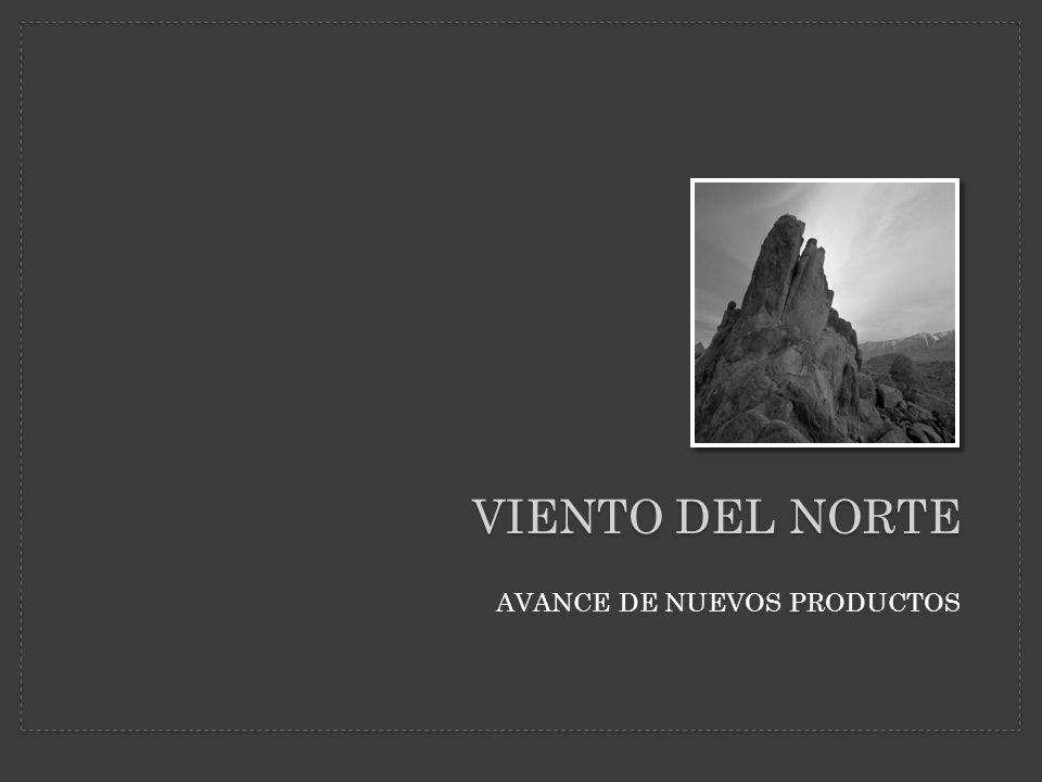VIENTO DEL NORTE AVANCE DE NUEVOS PRODUCTOS