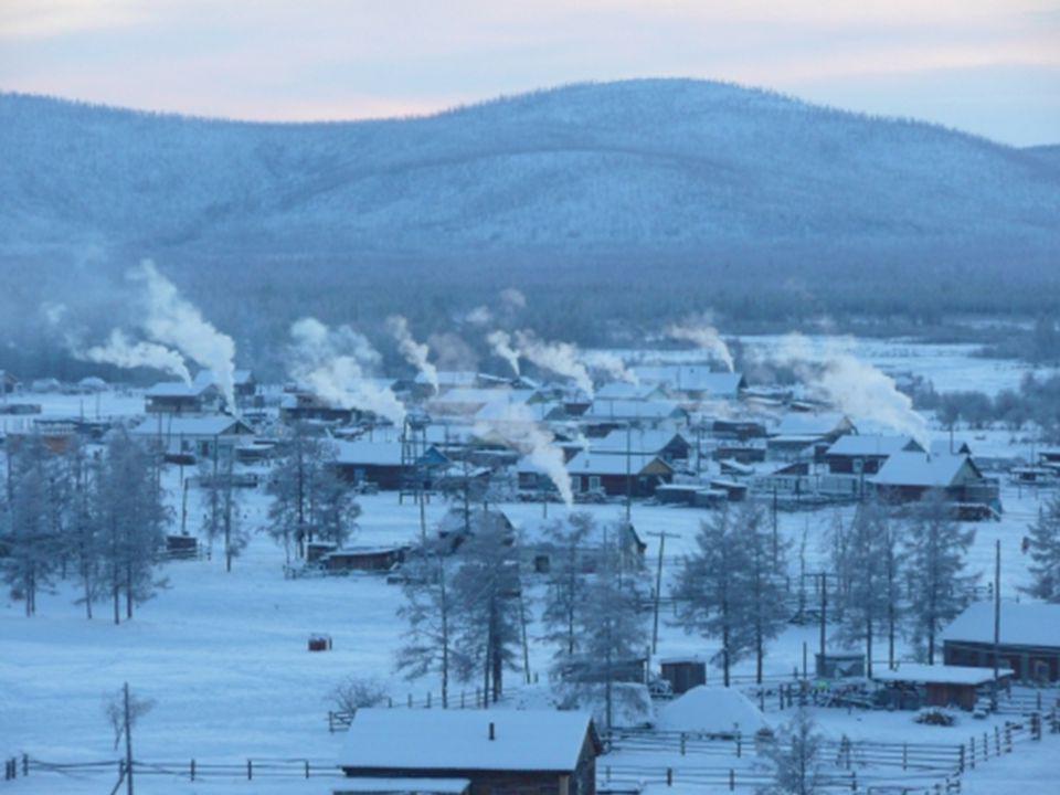 Situado en la república Rusa de Yakutia en Siberia La localidad está situada en el noroeste de Rusia, en una meseta a 750 metros sobre el nivel del ma