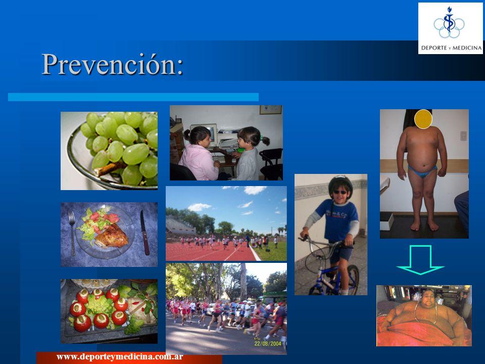 www.deporteymedicina.com.ar Prevención: