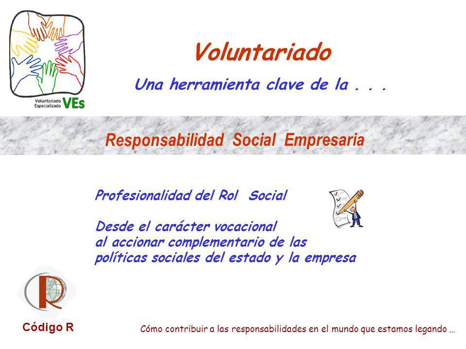 Voluntariado Una herramienta clave de la... Profesionalidad del Rol Social Desde el carácter vocacional al accionar complementario de las políticas so