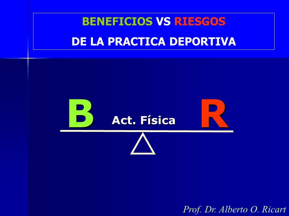 Prof. Dr. Alberto O. RicartBR Act. Física BENEFICIOS VS RIESGOS DE LA PRACTICA DEPORTIVA