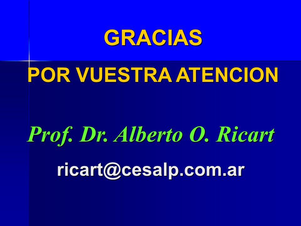 Prof. Dr. Alberto O. Ricart ricart@cesalp.com.ar GRACIAS POR VUESTRA ATENCION