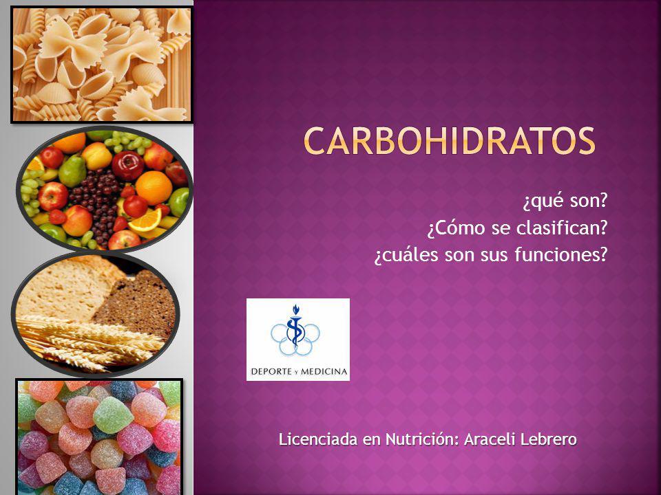 También llamados Hidratos de carbono, Azúcares, Glúcidos.