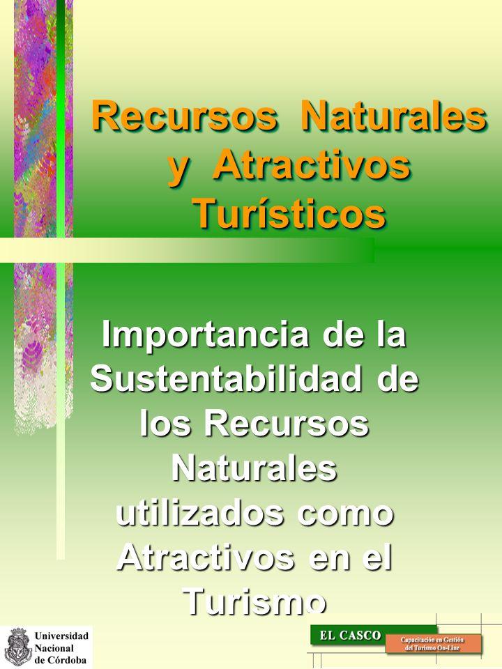 Recursos Naturales y Atractivos Turísticos Importancia de la Sustentabilidad de los Recursos Naturales utilizados como Atractivos en el Turismo